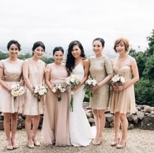 Trend alert! Nuanta ombre- de la coafura la rochiile domnisoarelor de onoare!