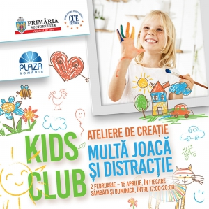 Kids Club dezvolta abilitatile creative ale  copiilor, la Plaza Romania