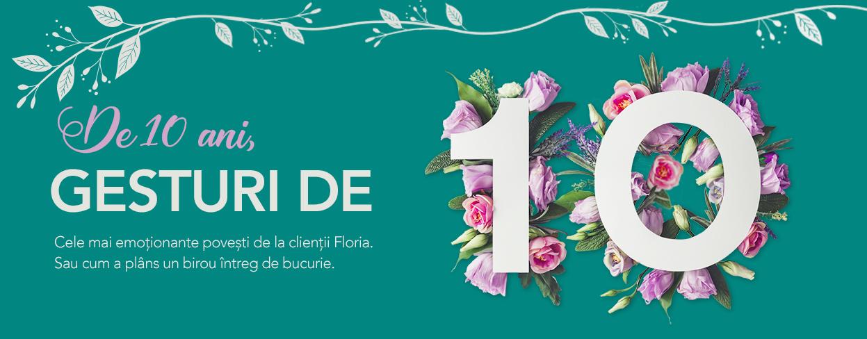 10 ani de Floria.ro: cum s-au schimbat preferintele romanilor in materie de flori