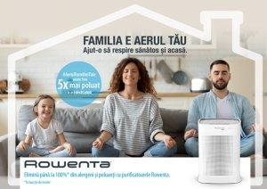 Purifica AerulFamilieiTale cu Pure Air Genius de la Rowenta