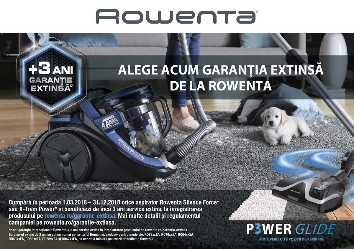 Performanta maxima si silentiozitate, acum cu extra-garantie la aspiratoarele Rowenta