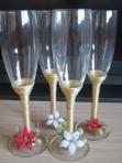15 modele de pahare pentru nunta in acord cu decoratiunile si tematica nuntii