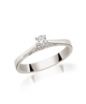 Inele de logodna aur alb: modele cu pietre si diamante