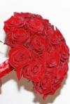 Buchete de mireasa trandafiri rosii: cele mai frumoase