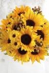 Buchete de mireasa din floarea soarelui