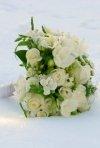 Buchete de mireasa pentru o nunta cu zapada