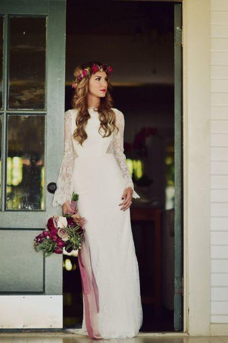 mireasa in stil boho trend nunta