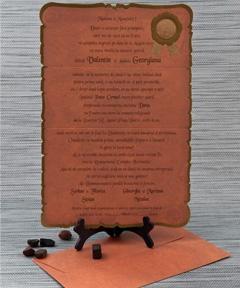 Invitatii de nunta personalizate pergament 2