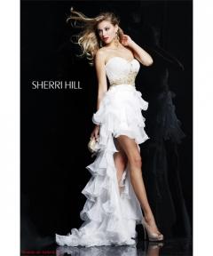 Rochie scurta cu trena Sherri Hill