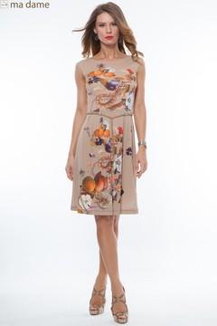 Rochie de seara cu imprimeu