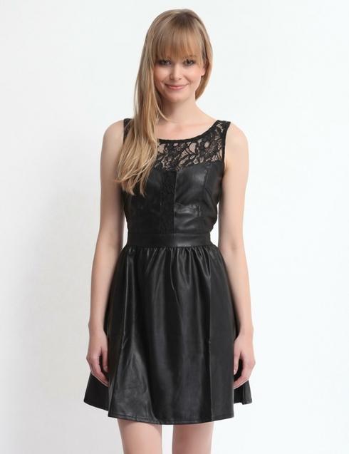 Rochie neagra din piele