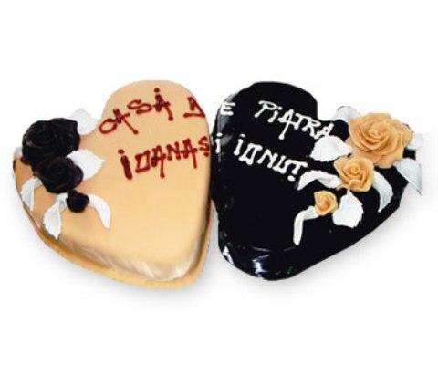 tort de nunta in forma de inima