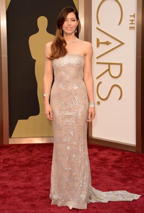 Jessica Biel in rochie Chanel