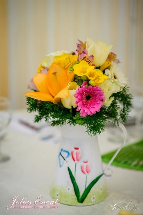 Flori pentru o nunta pastel