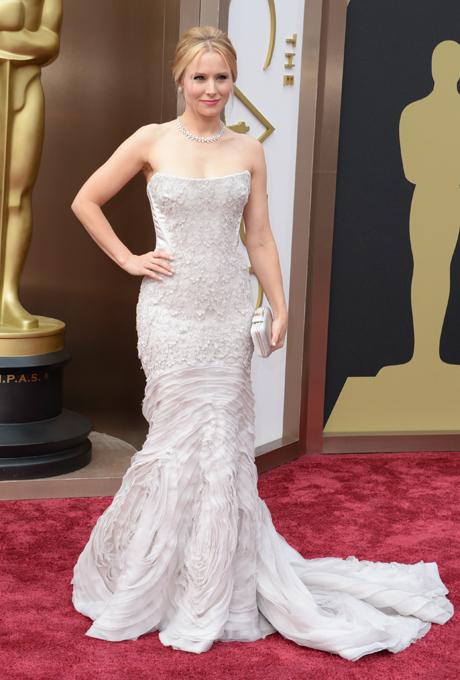 Kristen Bell in rochie Roberto Cavalli