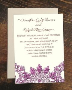 Invitatii de nunta Radiant Orchid
