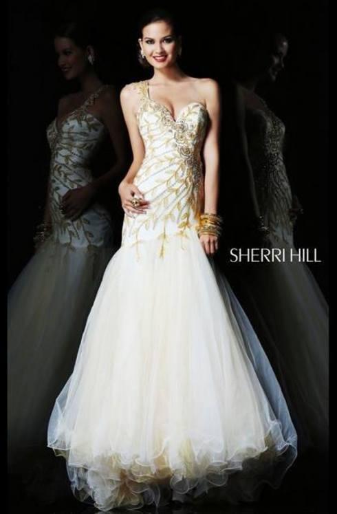 Sherri Hill 1572 (Ivory Romania)