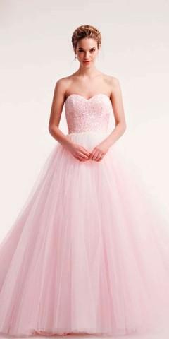 rochie de mireasa roz