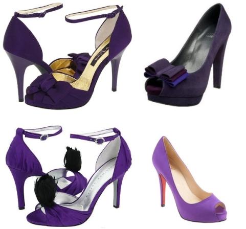 pantofi de mireasa mov