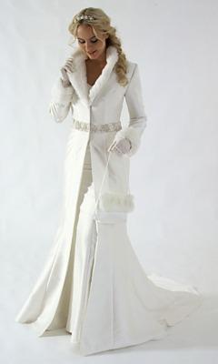 Rochie de iarna de mireasa