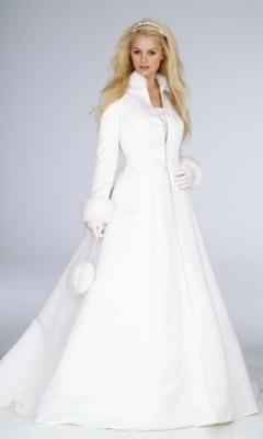 Rochie de mireasa iarna