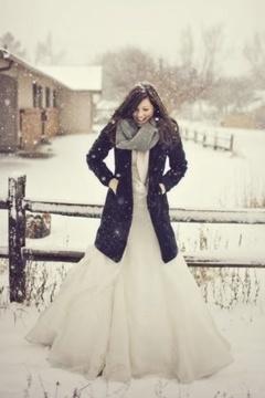 Idei de rochii de mireasa iarna