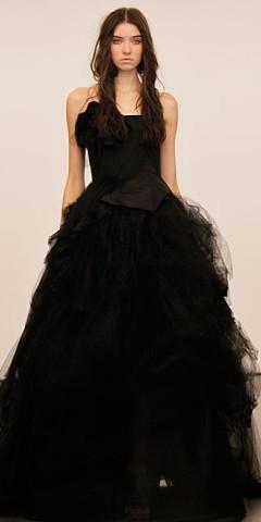 rochie de mireasa neagra