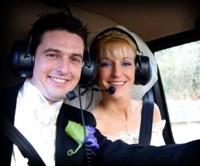 Transport cu elicopterul la nunta