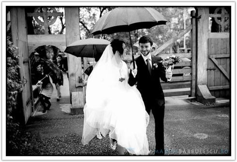 Sedinta foto cu umbrela de ploaie