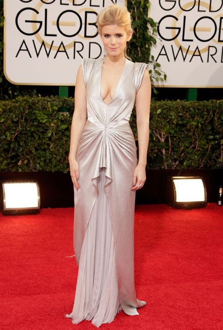 Kate Mara; designer: J. Mendel
