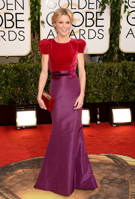 Julie Bowen; designer: Carolina Herrera