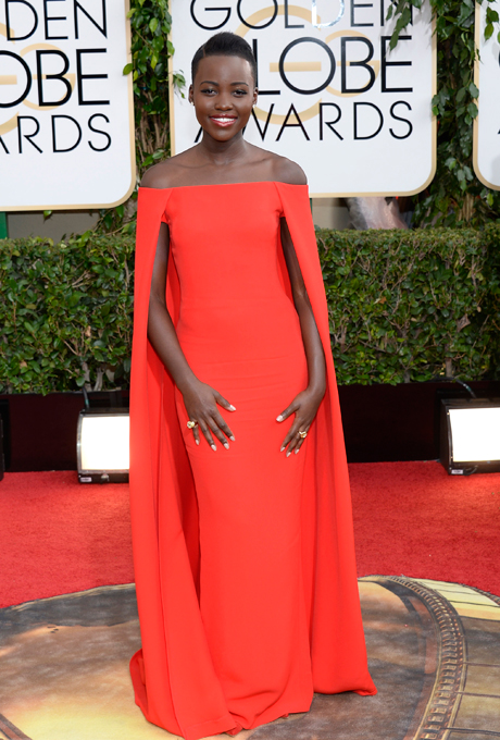 Lupita Nyong'o; designer: Ralph Lauren