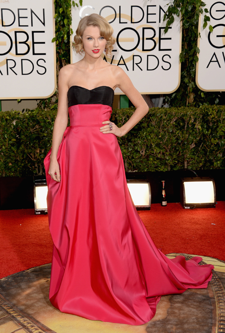Taylor Swift; designer: Carolina Herrera