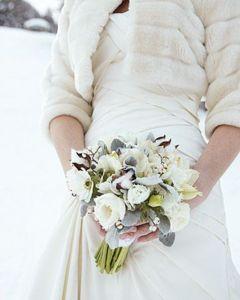 Buchet de mireasa pentru nunta de iarna