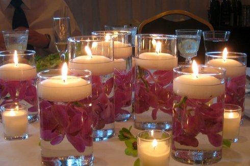 Lumanari plutitoare pentru nunta