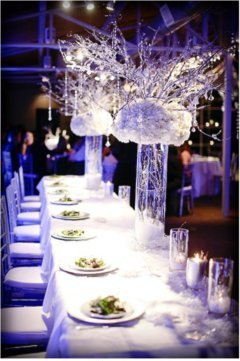 Aranjamente pentru masa la nunta de iarna