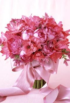 buchet de mireasa roz