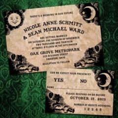 Invitatie de nunta stil Halloween