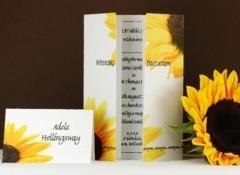 Invitatie de nunta cu tematica floarea soarelui