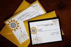 Idei de invitatii de nunta cu tematica floarea soarelui