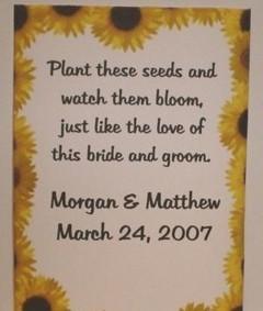Marturii pentru nunta cu tematica floarea soarelui
