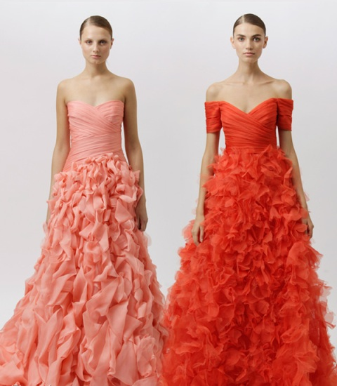 rochie de mireasa tangerine