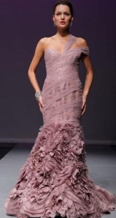 rochie de mireasa mov