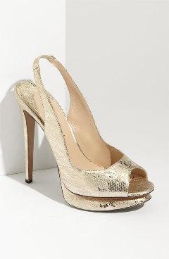 pantofi metalizati