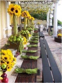 Aranjamente de nunta cu floarea soarelui