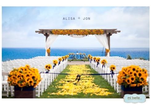 Decoruri de nunta cu floarea soarelui