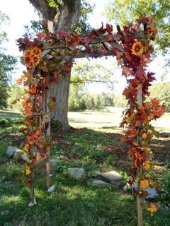 Arcada pentru nunta din floarea soarelui