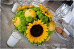 Aranjament de masa cu floarea soarelui