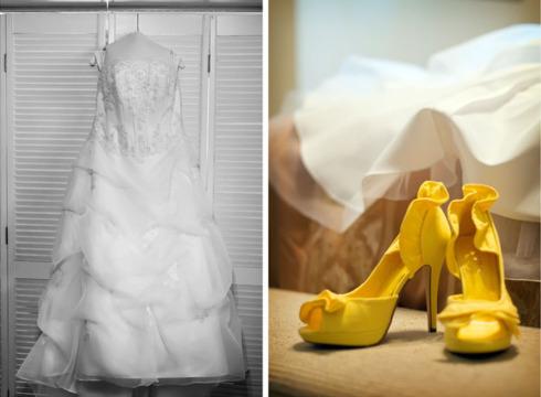 Pantofi galbeni la nunta