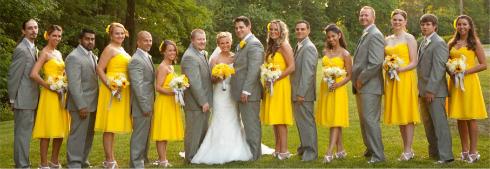 Rochii galbene pentru domnisoarele de onoare